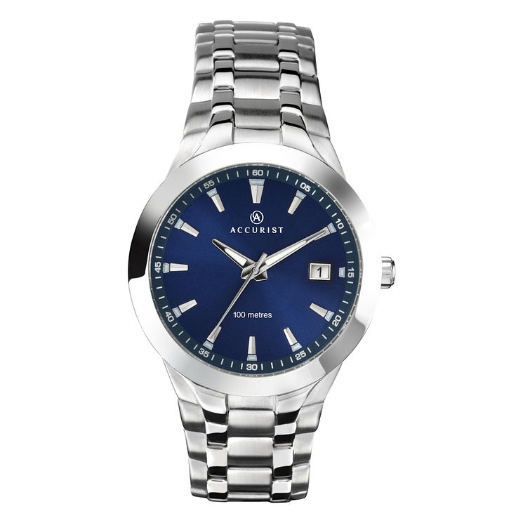 Accurist Men's Round Blue Dial Watch - Product number 8191212