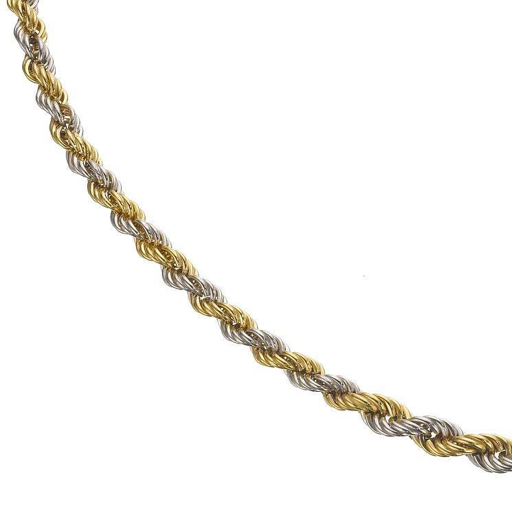 three tone rhodium plate xo jewelry in link with gold just necklace two