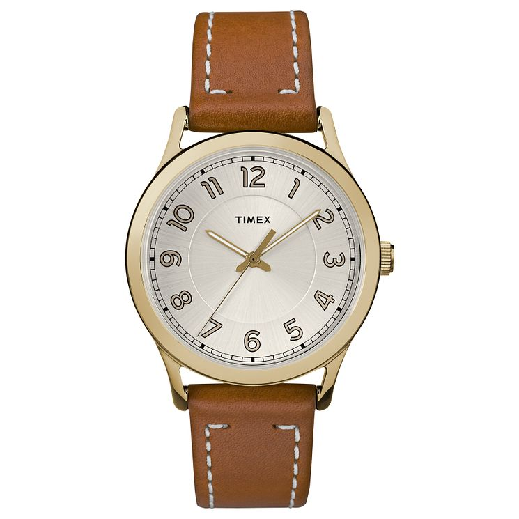 Timex Ladies' Heritage Tan Leather Strap Watch - Product number 8193290
