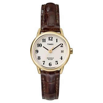 Timex Ladies' Brown Leather Strap Watch - Product number 8193886