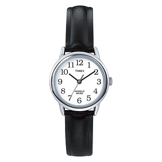 Timex Ladies' Black Leather Strap Watch - Product number 8193908