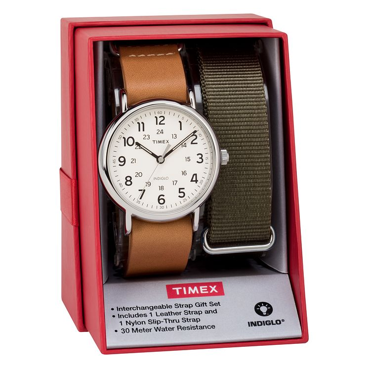 Timex Men's Weekender Multi Strap Watch Set - Product number 8193924