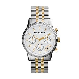 Michael Kors Ladies' Two Colour Bracelet Chronograph Watch - Product number 8194106