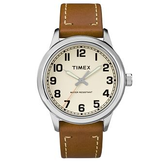 Timex Men's Heritage Tan Leather Strap Watch - Product number 8194483