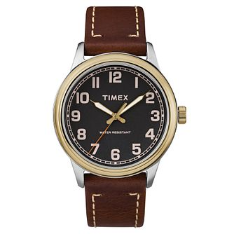 Timex Men's Heritage Brown Leather Strap Watch - Product number 8194505