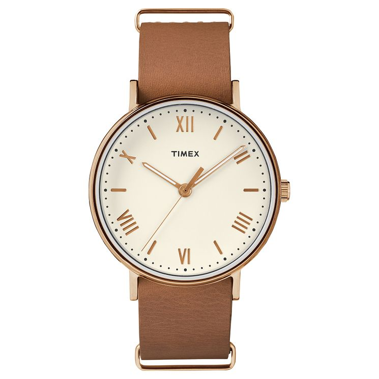 Timex Southview Tan Leather Strap Watch - Product number 8194548
