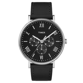 Timex Men's Southview Black Leather Strap Watch - Product number 8194556
