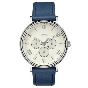 Timex Men's Southview Blue Leather Strap Watch - Product number 8194866