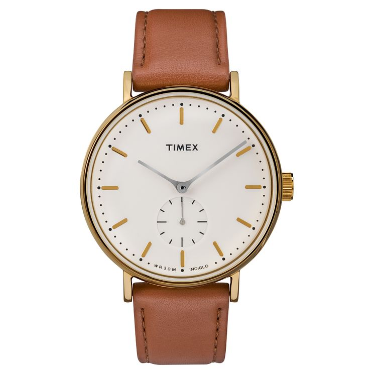 Timex Men's Fairfield Brown Leather Strap Watch - Product number 8194912