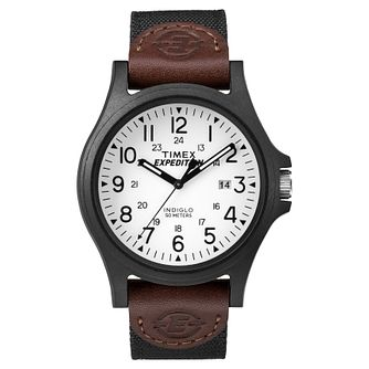 Timex Men's Expedition Acadia Brown Nylon Strap Watch - Product number 8195129