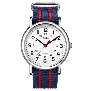 Timex Men's Weekender Multi-Coloured Nylon Strap Watch - Product number 8195242