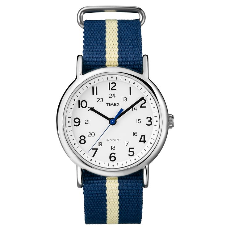 Timex Men's Weekender Multi-Coloured Nylon Strap Watch - Product number 8195250