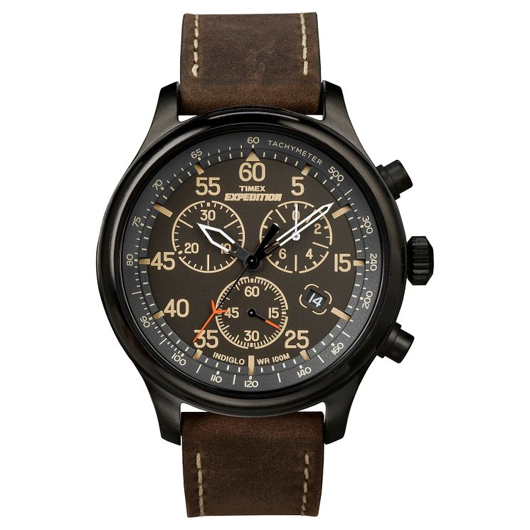 Timex Men's Expedition Brown Leather Strap Watch - Product number 8195293