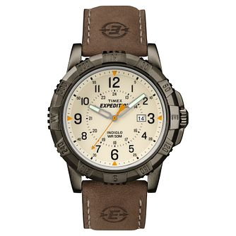 Timex Men's Expedition Brown Leather Strap Watch - Product number 8195307