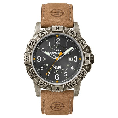 Timex Men's Expedition Tan Leather Strap Watch - Product number 8195315
