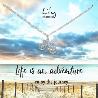 Lily Charmed Silver Bicycle Necklace - Product number 8195587