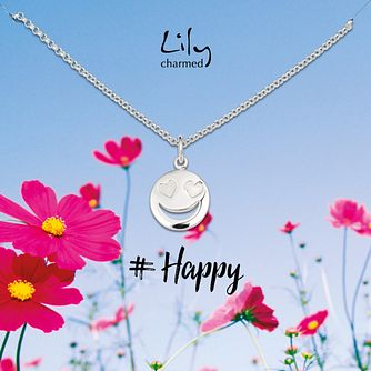Lily Charmed Silver Emoji Pendant - Product number 8195595