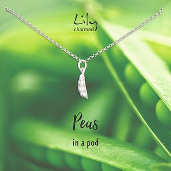 Lily Charmed Silver Peapod Necklace - Product number 8195609