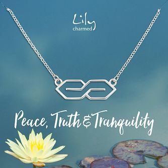 Lily Charmed Silver Infinity Necklace - Product number 8195641