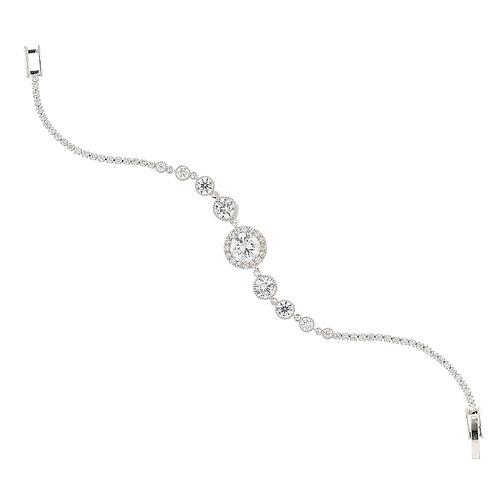 Mikey Silver Tone Cubic Zirconia Stone Bracelet - Product number 8195730