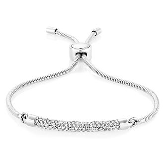 Buckley London Silver Plated Crystal Adjustable Bracelet - Product number 8195811