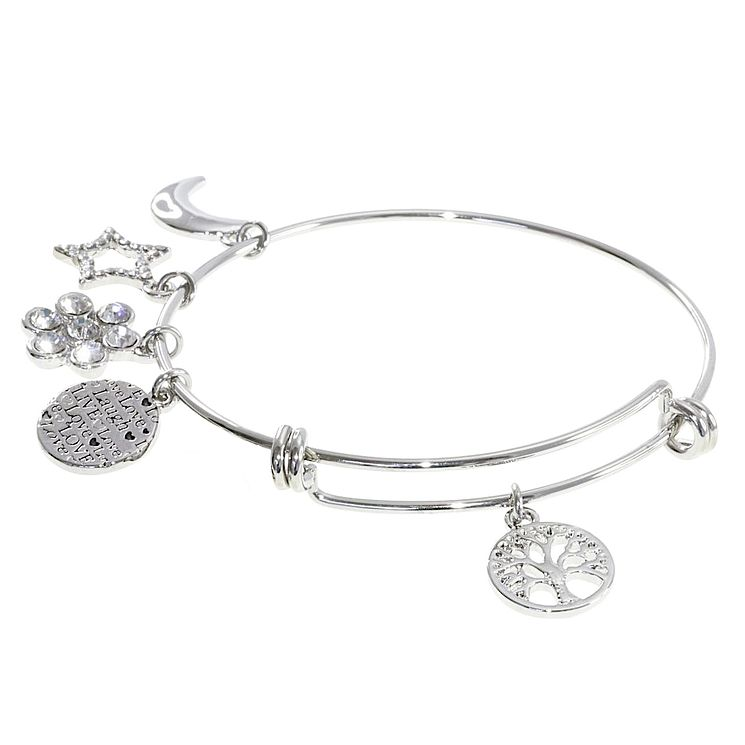 Cailin Cubic Zirconia Tree & Star Bangle - Product number 8199922