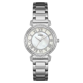 GUESS Ladies' Stone Set Stainless Steel Bracelet Watch - Product number 8200084