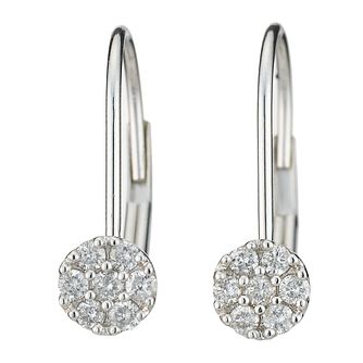 9ct white gold fifth carat diamond earrings - Product number 8208476