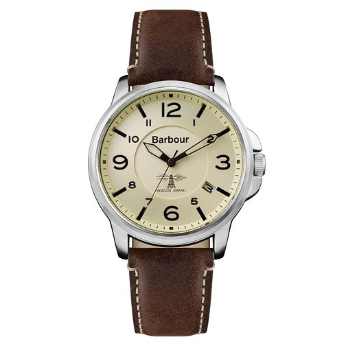 Barbour Barnard Men's White Stainless Steel Strap Watch - Product number 8216207