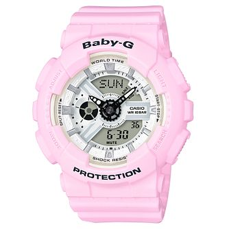 Casio Baby-G Ladies' Pink Resin Strap Watch - Product number 8216541