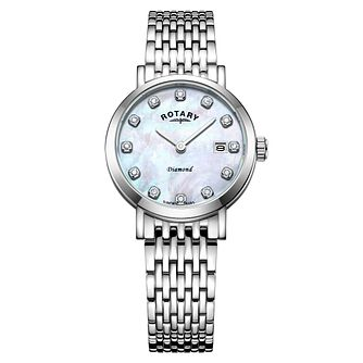Rotary Ladies' Stainless Steel Diamond Bracelet Watch - Product number 8216703