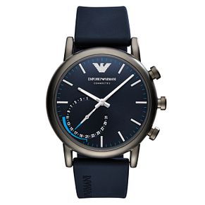 Emporio Armani Connected Men's Blue Strap hybrid Smartwatch - Product number 8216983