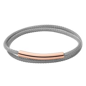 Skagen Anette Two Tone Steel and Rose Plate Bracelet - Product number 8217211