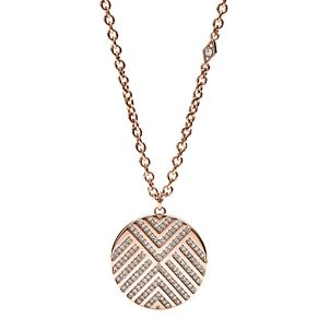 Fossil Chevron Ladies' Rose Gold Tone Necklace - Product number 8217297