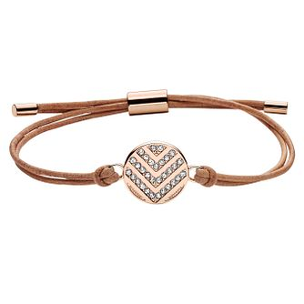 Fossil Chevron Ladies' Rose Gold Tone Bracelet - Product number 8217319