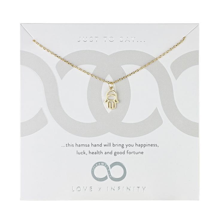Love x Infinity Yellow Gold Tone Hamsa Necklace - Product number 8219982