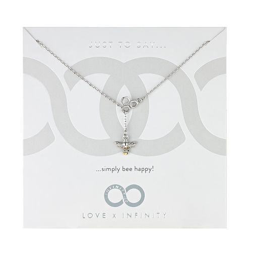 Love x Infinity Silver & Yellow Gold Tone Bee Happy Pendant - Product number 8220018