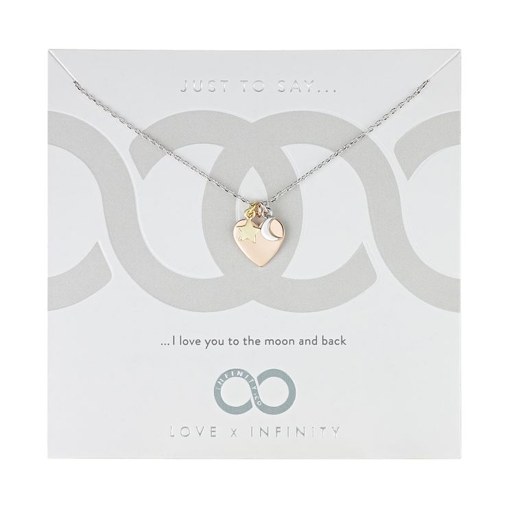 Love x Infinity Three Colour Moon, Star & Heart Necklace - Product number 8220034