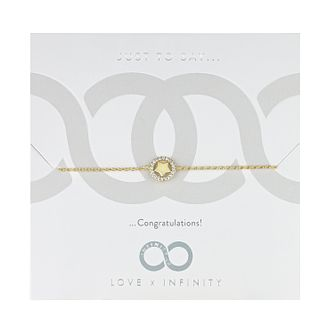 Love x Infinity Yellow Gold Tone Star Bracelet - Product number 8220085