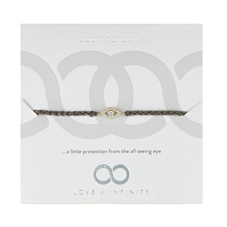 Love x Infinity Yellow Gold Tone Evil Eye Bracelet - Product number 8220158