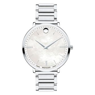 Movado Ultraslim Ladies' Stainless Steel Bracelet Watch - Product number 8220344