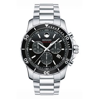 Movado Series 800 Men's Black Chronograph Bracelet Watch - Product number 8220360