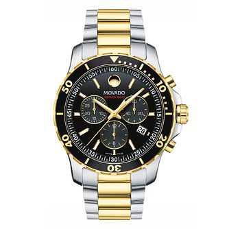 Movado Series 800 Men's Two Colour Chronograph Watch - Product number 8220379