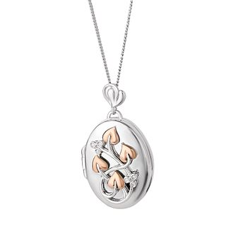 Clogau Silver & Rose Gold Tree of Life Diamond Locket - Product number 8220786