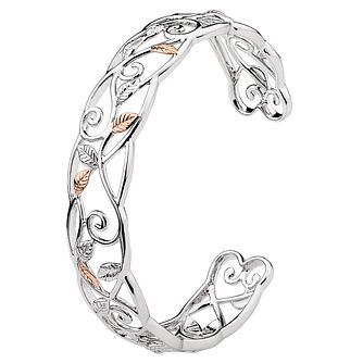 Clogau Silver & Rose Gold Awelon Bangle - Product number 8220794