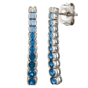 Le Vian 14ct Vanilla Gold Denim Sapphire Earrings - Product number 8221472