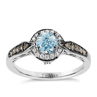 Le Vian 14ct Vanilla Gold Sea Blue Aquamarine Diamond Ring - Product number 8221952