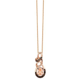 Le Vian 14ct Strawberry Gold Peach Morganite Pendant - Product number 8223076