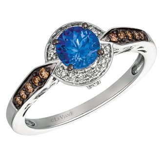 rings loop ring tanzanite engagement wedding diamond white blue gold curved round