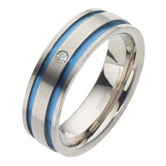 Men's Titanium Diamond Ring - Product number 8226180
